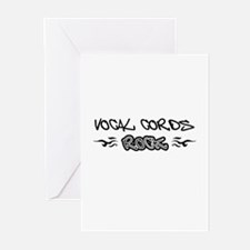 Vocal Cords Greeting Cards (Pk of 10)