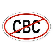 CBC Oval Bumper Stickers