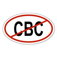 CBC Oval Decal