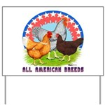 All American Breeds Yard Sign
