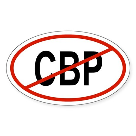CBP Oval Sticker