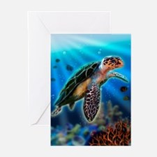 Baby Sea Turtle Greeting Cards (Pk of 10)