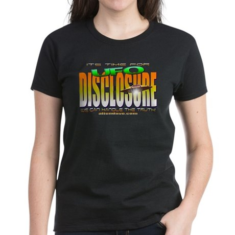 UFO Disclosure its time Black Women's Dark T-Shirt