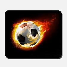 Soccer Fire Ball Mousepad