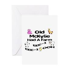 Old McKylie Had a Farm Greeting Card