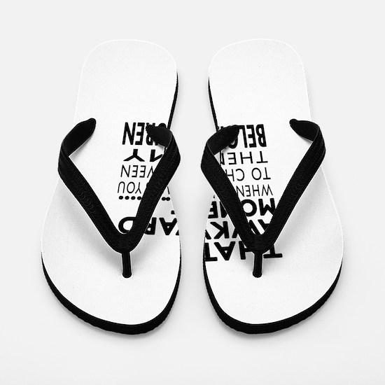 Awkward Belgian Tervuren Dog Designs Flip Flops