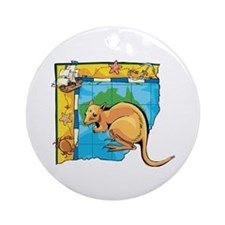 Wallaby Ornament (Round)