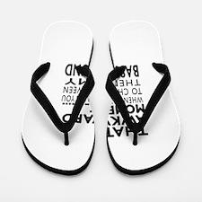 Awkward Basset Hound Dog Designs Flip Flops
