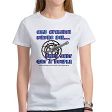 Old Cyclists Blue Tee