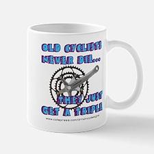 Old Cyclists Blue Mug