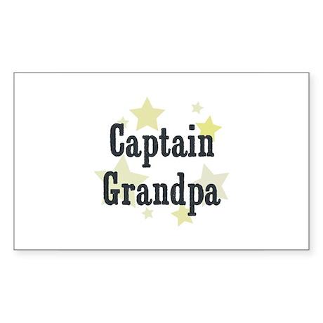 Captain Grandpa Rectangle Sticker