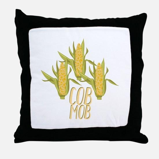 Cob Mob Throw Pillow