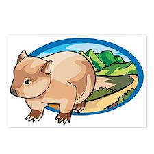 Australia Wombat Postcards (Package of 8)
