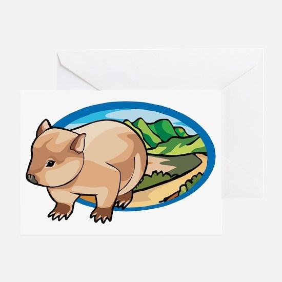 Australia Wombat Greeting Card
