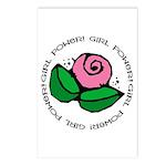 Girl Power Flower Postcards (Package of 8)
