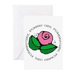 Girl Power Flower Greeting Cards (Pk of 20)