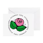 Girl Power Flower Greeting Cards (Pk of 10)