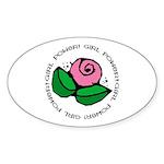 Girl Power Flower Oval Sticker