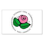Girl Power Flower Rectangle Sticker