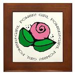 Girl Power Flower Framed Tile