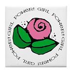 Girl Power Flower Tile Coaster