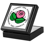 Girl Power Flower Keepsake Box