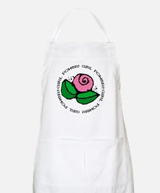 Girl Power Flower BBQ Apron