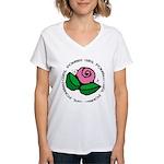 Girl Power Flower Women's V-Neck T-Shirt