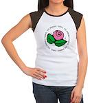 Girl Power Flower Women's Cap Sleeve T-Shirt