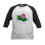 Girl Power Flower Kids Baseball Jersey