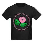 Girl Power Flower Kids Dark T-Shirt