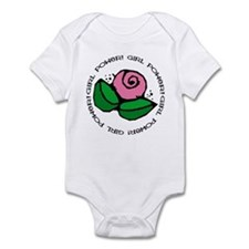 Girl Power Flower Infant Bodysuit