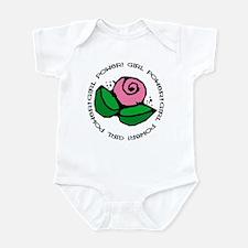 Girl Power Flower Infant Bodysuit