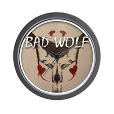 Bad Wolf Wall Clock