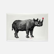 holiday rhino Rectangle Magnet