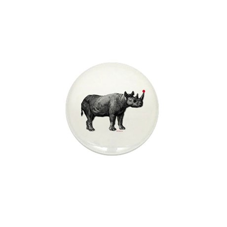 holiday rhino Mini Button (10 pack)