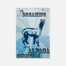 I'm Dreaming of an Alpaca Chr Rectangle Magnet