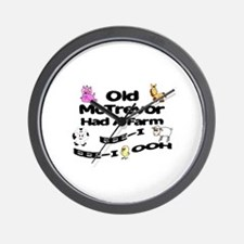 Old McTrevor Had a Farm Wall Clock