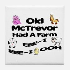 Old McTrevor Had a Farm Tile Coaster