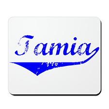 Tamia Vintage (Blue) Mousepad