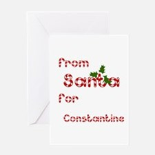 From Santa For Constantine Greeting Card