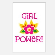Flower Girl Power Postcards (Package of 8)