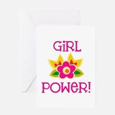 Flower Girl Power Greeting Card