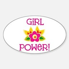 Flower Girl Power Oval Decal