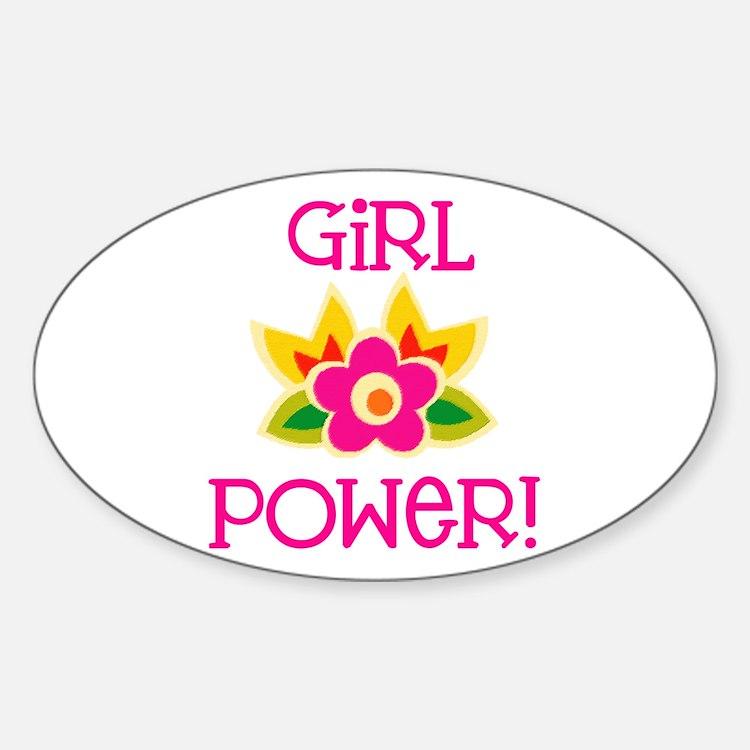 Flower Girl Power Oval Decal