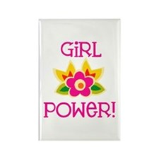 Flower Girl Power Rectangle Magnet