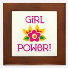 Flower Girl Power Framed Tile