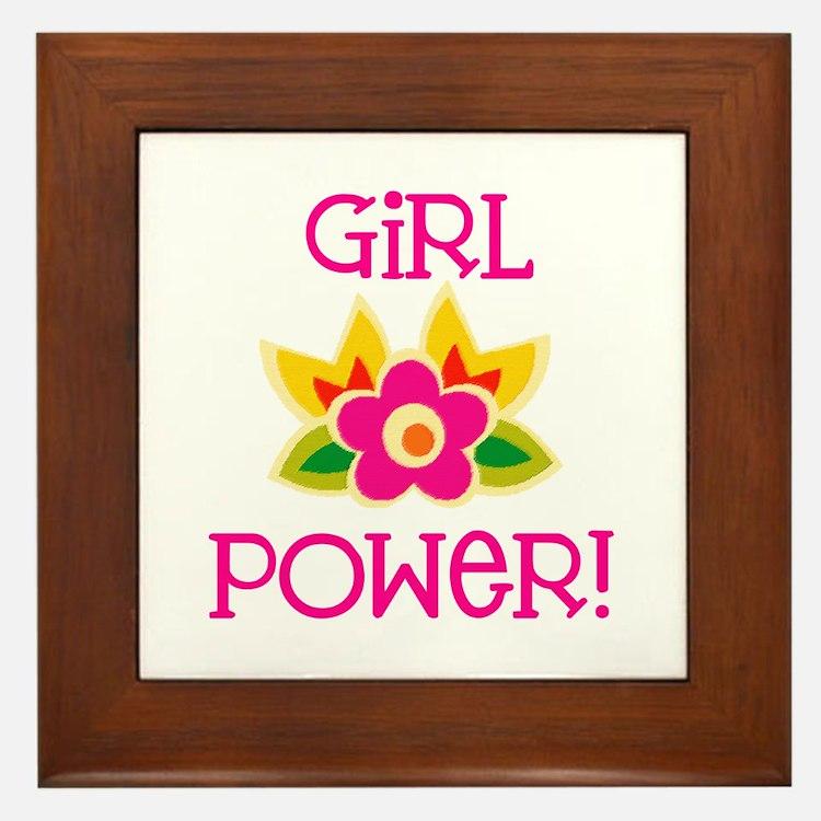 Flower Girl Power Framed Tile