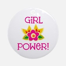 Flower Girl Power Ornament (Round)