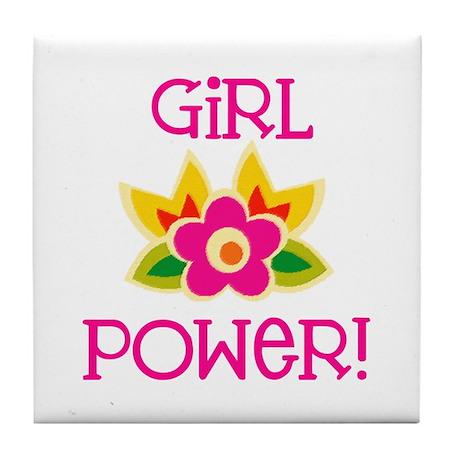 Flower Girl Power Tile Coaster